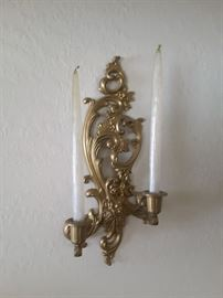 Decorative Plastic Wall Sconce with Real Candles. There are 2 of these sconces.