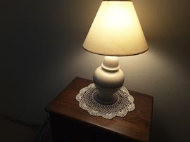 Small End Table with Table Lamp.