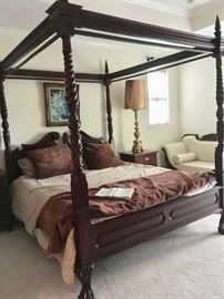 Gorgeous California King Bed, Carved Wood, Shipped from Indonesia