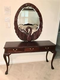 Beautiful Swan Mirror and Dressing Table