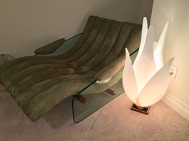 Unusual Tonelli Lounge Chair, straight from Dallas Market and Large Rougier Floriform Tulip Lamp