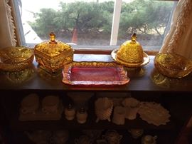 Tiara amber glass
