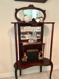 Beveled Glass Etagere