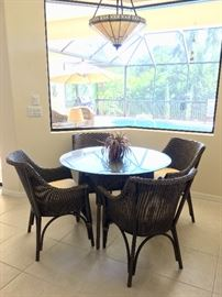 Faux wicker dining set