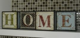"""Home"" wooden block letters"