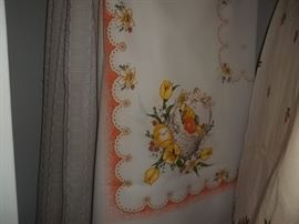 new vintage table cloth