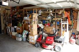 Garage and basement Full Of Guy Stuff.... Tools Hardware and Bits and Pieces!