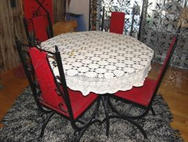 Spanish Style Black Iron Table & Chairs