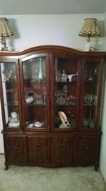 French Provincial China cabinet - glass wear  100 for cabinet