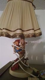Pair of Hummel lamps  250 firm for the pair