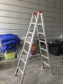 Fold up ladder (have 2)—perfect for use in a motor home