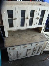 Antique (1920's) Children's Solid Wood Play Hutch! Neat!