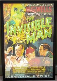 "Lot 338 - Art ""The Invisible Man"" Framed Movie Poster"