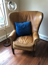 wing leather chair by Ralph Lauren