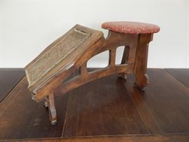 Unusual Primitive antique cobblers bench