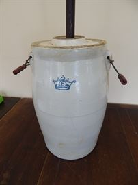 6 Gallon Ceramic Butter Churn