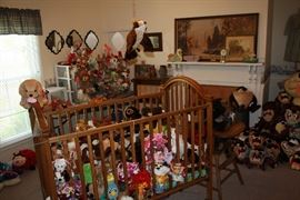 Shot of the entire room.  Most of the plush/stuffed animals are priced at $1.  Beanie babies are also $2 or three for $5.  Most Tazzies are under $3 .  Dealers,  you are very welcome.  You will not be disappointed.