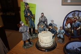Civil War figurines.  Also Civil War plates and a few books.