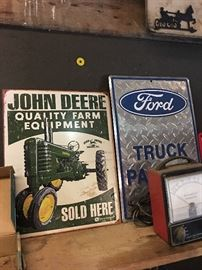 JOHN DEERE & FORD SIGNS