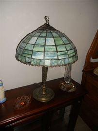 Nice Lead Slag Brass Lamp