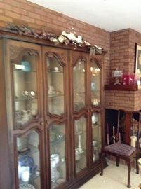 Mid-Century Curio Cabinet full of knick-knacks!