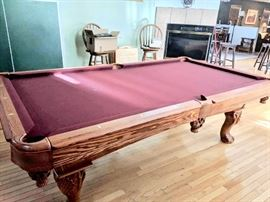 Gorgeous slate top pool table