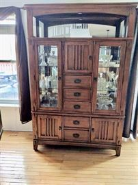 Mission style PERFECT cabinet. Lights made by STANDARD FURNITURE