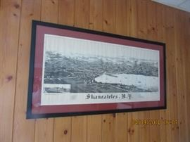 Print of Skaneateles, NY in the early years.