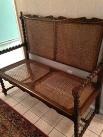 Fabulous antique barley twist settee