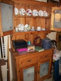 china cabinet part of 3 pc set