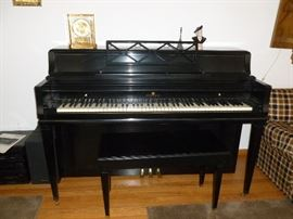 Nice Wurlitzer Upright Piano & Bench..appraised by Bob Gray..great condition!