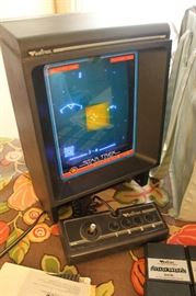 Awesome vintage 1982 Vectrex Game System with 13 games, 11 screens, manuals, light pen and carry case.
