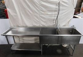 2 Bay Sink with Drain Board