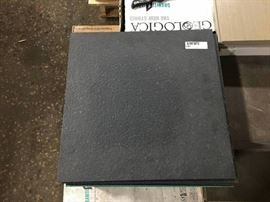 88 sq ft of 18x18 Black Porcelain Tile