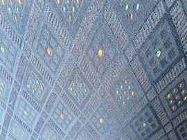 Fabric detail sofa and love seat dark blue