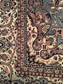 Carpet #1 detail of blue gray oriental carpet