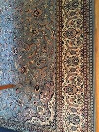 Carpet # 1 Large living room size Blue gray rug 8 feet x 11 feet