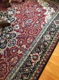 Carpet #2 Oriental rug dark red  8 ft x 11 ft with central medallion