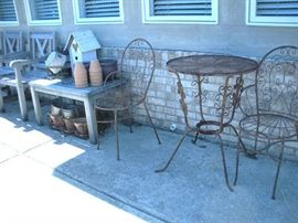 Snow is gone...time to set your patio up....lots of furniture, planters and yard ornaments available.