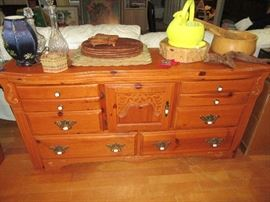 vintage solid wood bedroom set