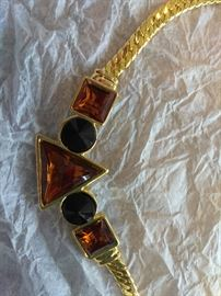 Women's Necklace Brown Stone Custom Jewelry  http://www.ctonlineauctions.com/detail.asp?id=702934