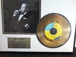 2 Frank Sinatra 24 Carat Gold Plates    http://www.ctonlineauctions.com/detail.asp?id=704331