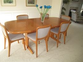 House of Denmark dining room table and chairs