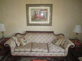 Antique rolled arm sofa