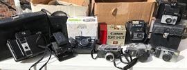 New in box cameras to Vintage Land cameras