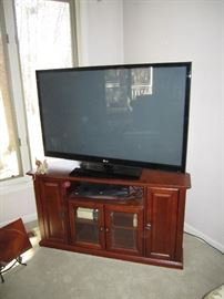 Flat screen TV,  DVD's,  CDs