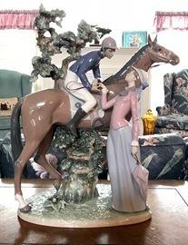"""Jockey with Lass"" by Lladro"