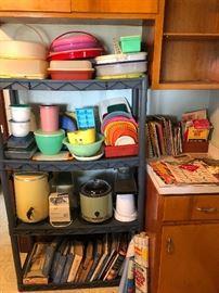 Vintage Tupperware, Crock Pot, Popcorn poppers, Can opener