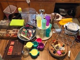 Corning Ware,  Recipe boxes, Tupperware, misc Kitchenwares