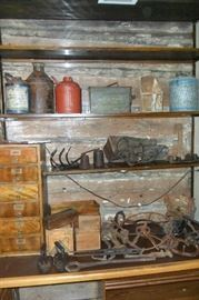 Antique Gas Cans,Advertising Boxes,Etc...